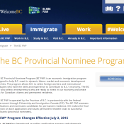 British Columbia's Provincial Nominee Program