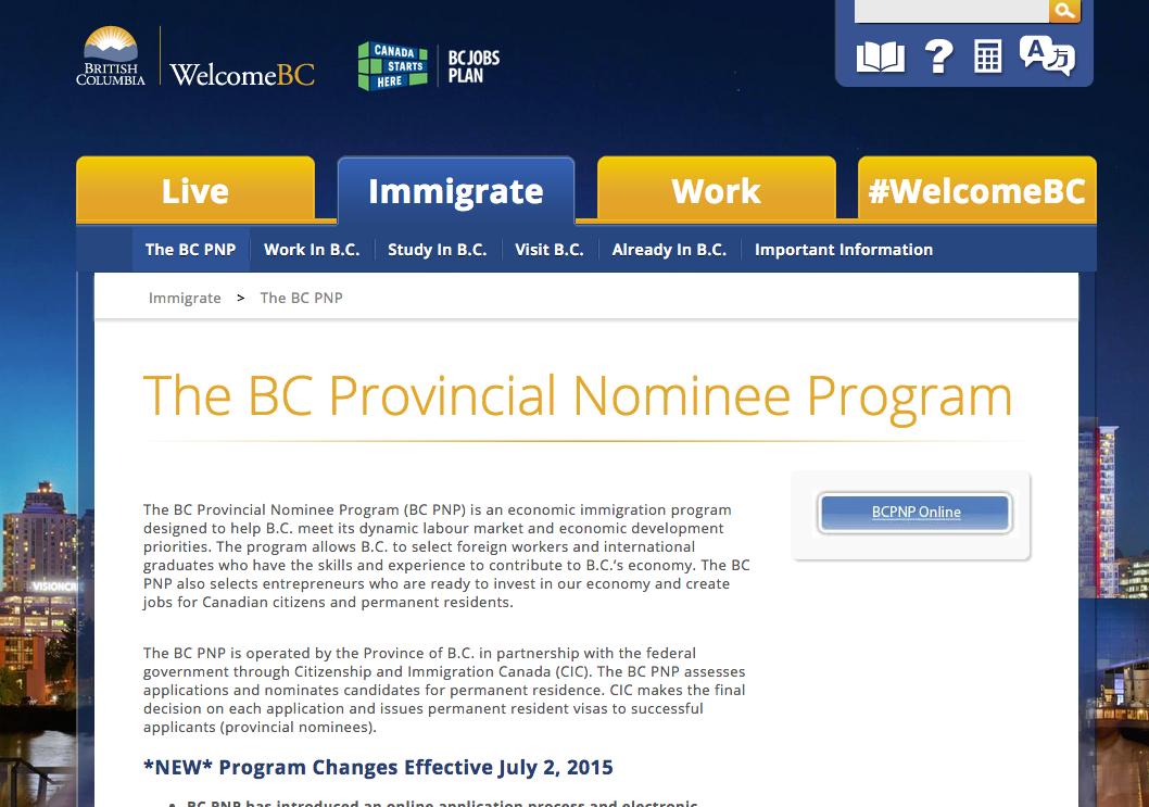 British Columbia's Provincial Nominee Program